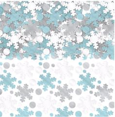 Snowflake Metallic Foil Mix Super Mega Value Confetti