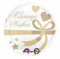 Marriage Wishes Balloon 18""