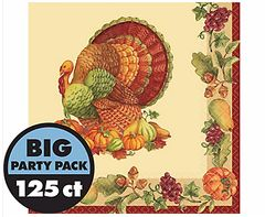 Joyful Thanksgiving Luncheon Napkins