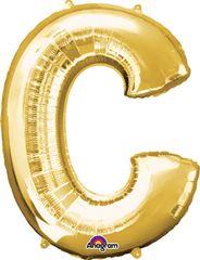 """Gold Letter C - 34"""" Mylar"""