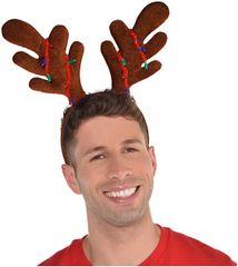Reindeer Antler Headband w/Lights