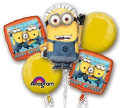 Despicable Me Happy Birthday Balloon Bouquet
