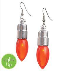 Light-Up Christmas Bulb Earrings