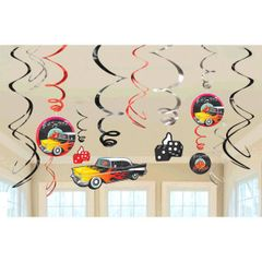 50's Value Pack Swirl Decorations