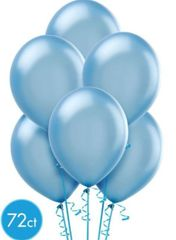 Powder Blue Solid Color Latex Balloons, 72ct