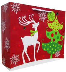 Contemporary Reindeer Extra Large Horizontal Bag