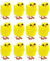 Chenille Easter Chicks, 12ct