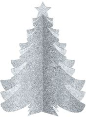 Glitter Silver Christmas Tree