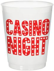 Casino Frosted Stadium Cup, 14oz - 8ct