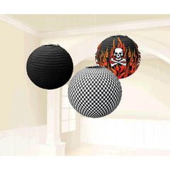 Rock On Round Printed Paper Lanterns