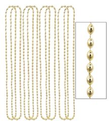 Gold Metallic Bead Necklaces, 8ct