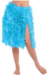 Blue Flower Lei Hula Skirt