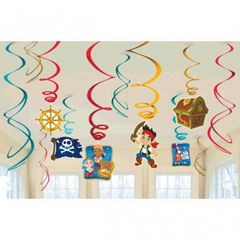 ©Disney Jake and the Never Land Pirates Value Pack Foil Swirl Decorations