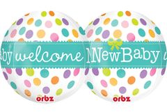 Welcome New Baby ORBZ Balloon 16""