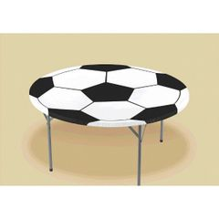Soccer Round Table Cover w/Elastic