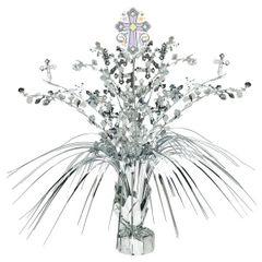 Silver Religious Spray Centerpiece