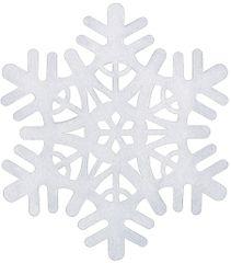 Large White Foam Snowflake Decoration
