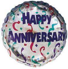 "Anniversary Celebration Balloon 18"""