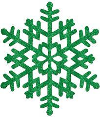 Large Green Snowflake