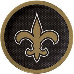 "New Orleans Saints 9"" Round Plates, 8ct"