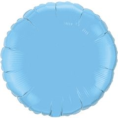 Round 20 Pale Blue Mylar Balloon 18in