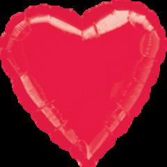 Heart 40 Metallic Red Mylar Balloon 18in