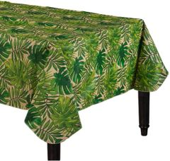 Island Palm Flannel-Backed Vinyl Table Cover