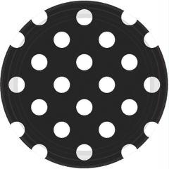 "Black Dots, 7"" Plates"
