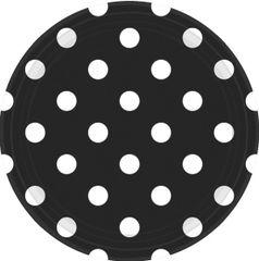 "Black Dots, 9"" Plates"