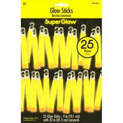 "Yellow, 4"" Glow Stick Mega Value Pack"
