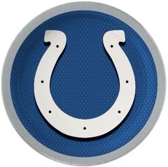 "Indianapolis Colts 9"" Round Plates, 8ct"