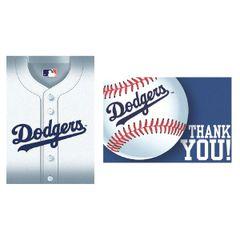 Los Angeles Dodgers Invitation & Thank You Card Set