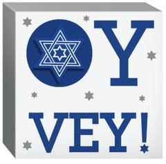 Hanukkah Judiac Traditions Passover Square Standing Plaque