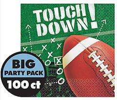 Football Frenzy Beverage Napkins