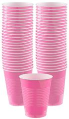 Big Party Pack Bright Pink Plastic Cups, 16 oz - 50ct