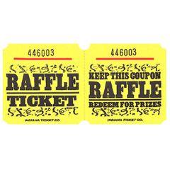 Yellow Raffle Ticket Roll