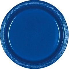 "Bright Royal Blue Dessert Plates, 7"" - 20ct"