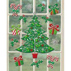 Traditional Christmas Window Decoration