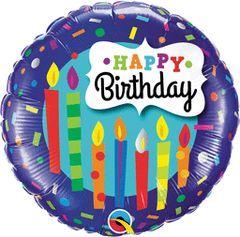Happy Birthday Candle & Confetti