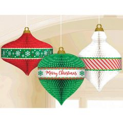 Christmas Ornament Honeycomb Hanging Decoration