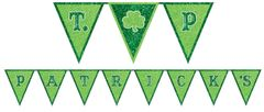 Glitter St. Patrick's Day Pennant Banner