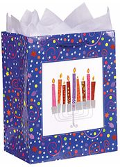 Playful Menorah Medium Glitter Bag