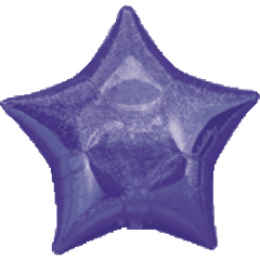 Dazzler Star 11 Purple Mylar Balloon