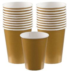 Gold Paper Cups, 9oz - 20ct