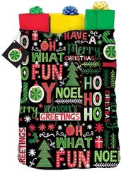 Joyful Holiday Giant Plastic Gift Sack