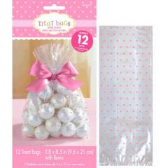 Baby Shower Cello Treat Bags - Pink