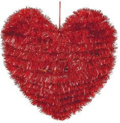 Small Tinsel Heart Decoration