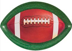 Football Shaped Plastic Platter