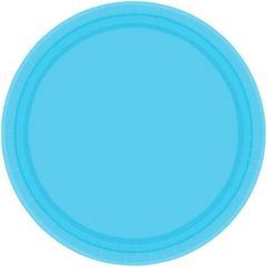 """Caribbean Blue Lunch Plates, 9"""" - 20ct"""