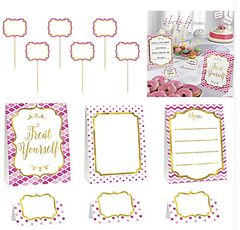 Pink Buffet (12pcs) Decorating Kit